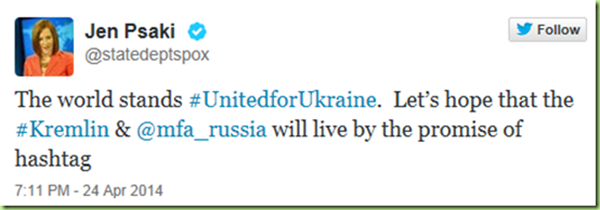 jen psaki hashtag diplomacy