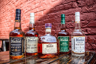 The various whiskies from the George Dickel Tennessee Whisky portfolio