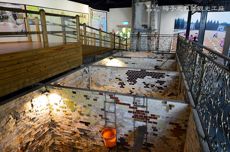 梅問屋梅子元氣館觀光工廠醃梅池廊道