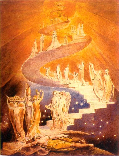 Jacobs Ladder 1800 By William Blake, William Blake