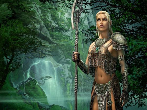 Elf Fighter In The Wood, Elven Girls 2