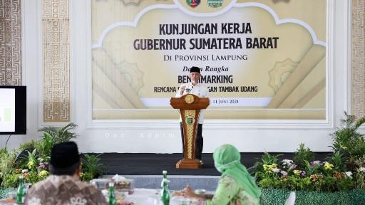 Gubernur Mahyeldi Lakukan Kunker ke Lampung, Ingin Majukan Potensi Perikanan Udang Sumbar