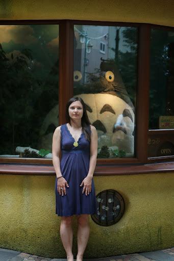 Totoro accueille les visiteurs à l'entrée du Musée Ghibli