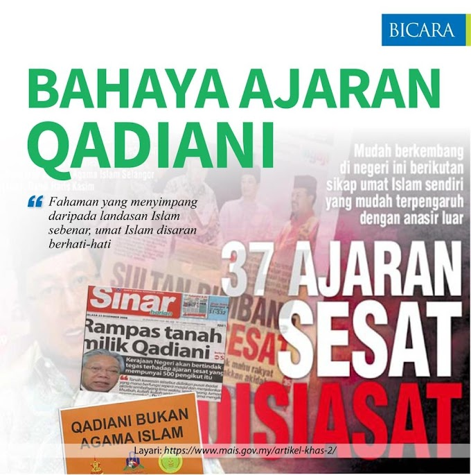 Bahaya Ajaran Qadiani ! Umat Islam Perlu Berhati-hati