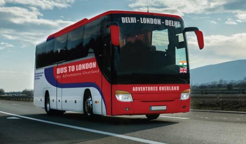 delhi to london bus service