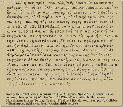 Sextus Empiricus. Adv Math Bk8 ln10-13.2.