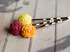 Summer Rose Hair Pins
