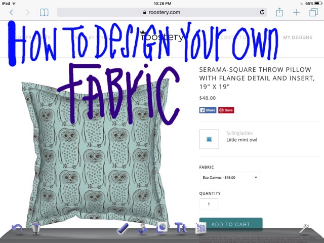 FallingLadies: How to easily design your own fabric on