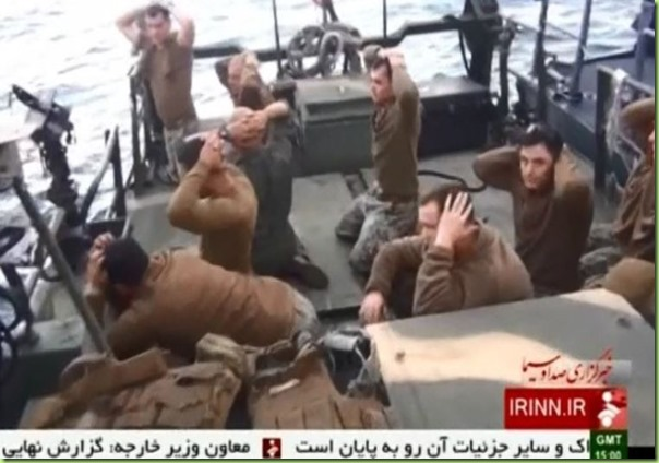 iran captures us sailors