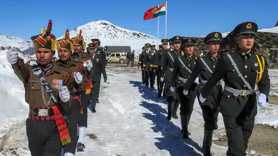 Indian Army And Chinese PLA Marching Together