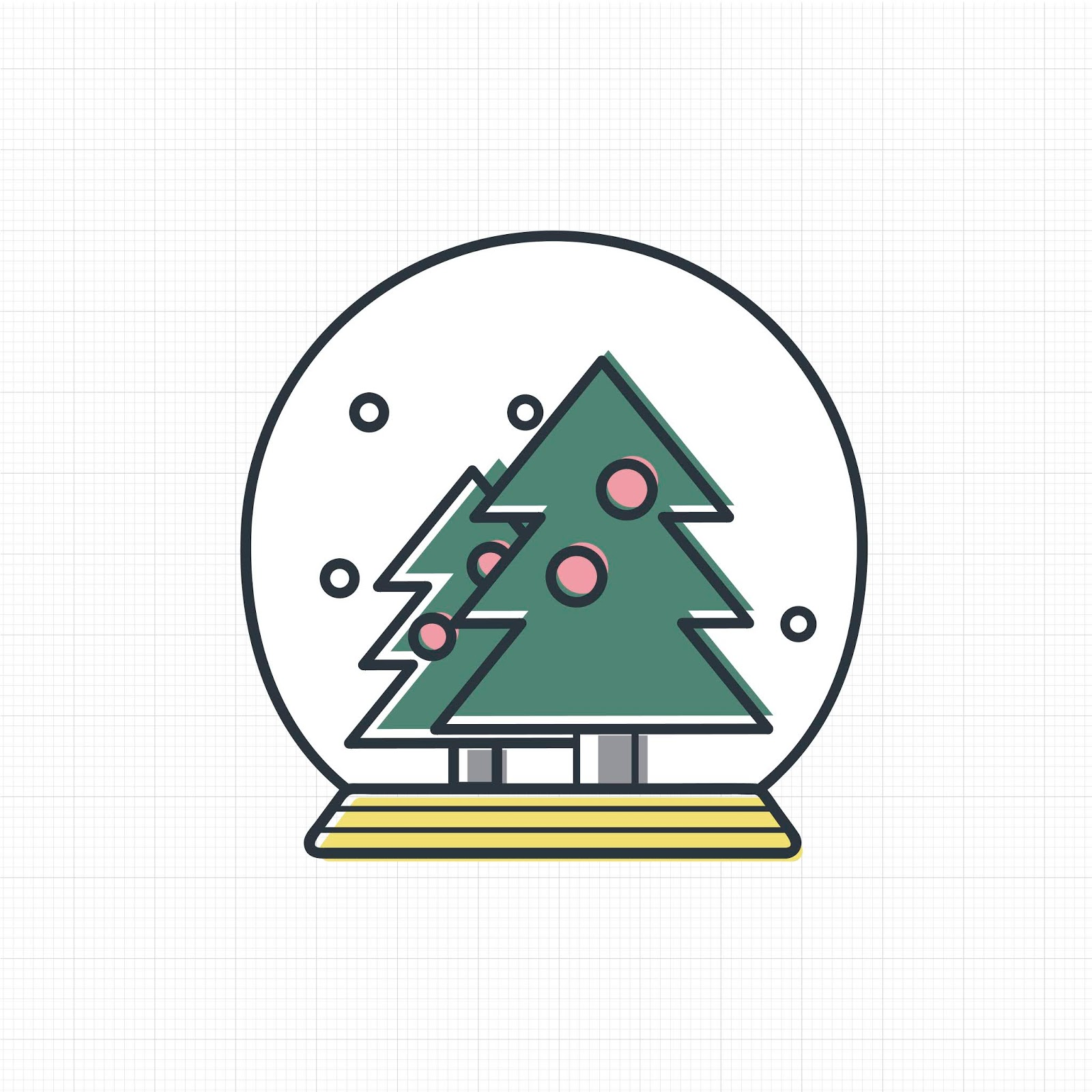 Vector Christmas Snow Ball Icon Free Download Vector CDR, AI, EPS and PNG Formats