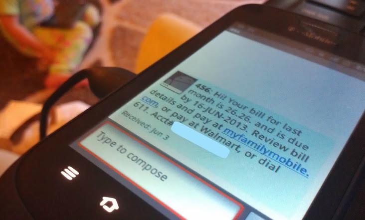 Bill Via Text for the Walmart Unlimited Family Mobile Plan #FamilyMobileSaves