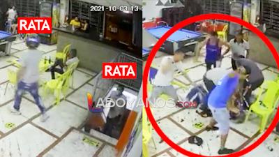 VIDEO: Dos ladrones fueron atracar en un billar y les dieron tremenda paliza