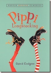 Pippi Longstocking by Astrid Lingern book cover