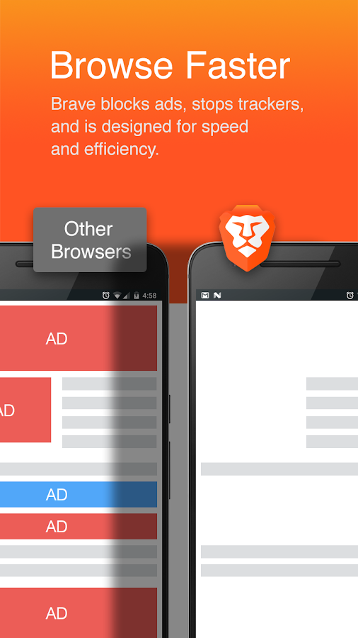 Brave Browser: Fast AdBlocker- screenshot