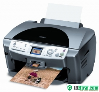 How to reset flashing lights for Epson RX620 printer