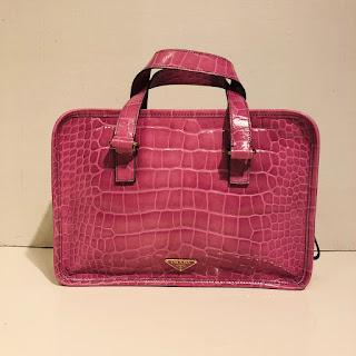 Prada Embossed Handbag