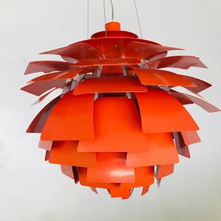 Vintage Artichoke Style Light Fixture #1