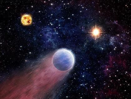 ilustração da atmosfera de um mini-Netuno