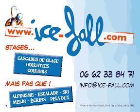 Première pub bord de route Ice-fall, Ailefroide