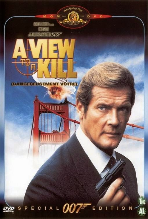 Poster Of A View to a Kill (1985) Full Movie Hindi Dubbed Free Download Watch Online At Alldownloads4u.Com