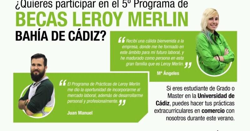Empleo y formaci n provincia de c diz becas estudiantes de grado o m ster en universidad de - Leroy merlin boe ...