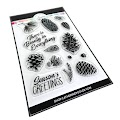 Pinecone Greetings Stamps