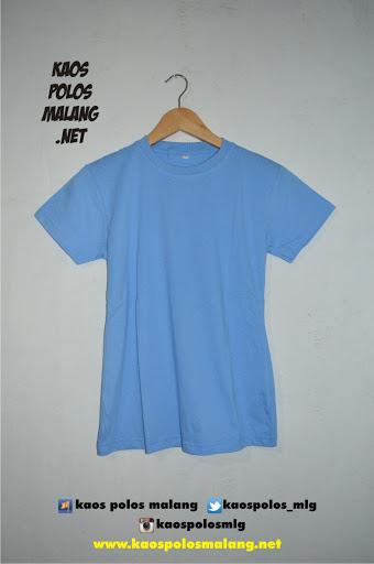 kaos polos malang biru muda