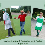 Laatste training C-aspiranten en D-pupillen
