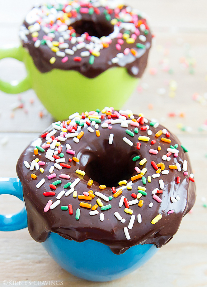 photo of two Donut Mug Cakes