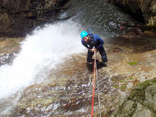 Rappel de 18m, canyon d'Angon découverte
