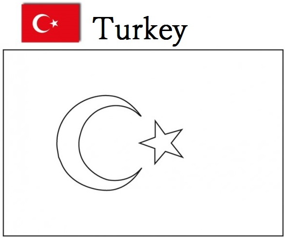 Turkey flag coloring page