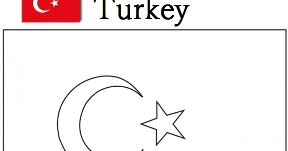 Geography Blog: Turkey Flag Coloring Page