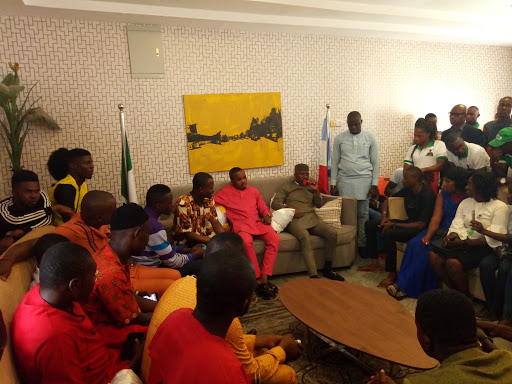 NUISS Pays Solidarity Visit To Their National Patron And Governorship Candidate of Action Alliance, Ugwumba Uche Nwosu.