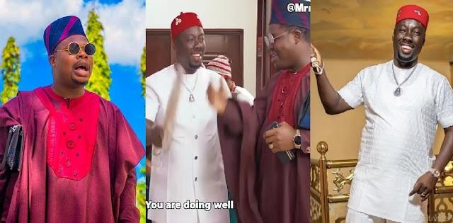 Mr Macaroni narrates how he got Obi Cubana on his Latest skit [Video]