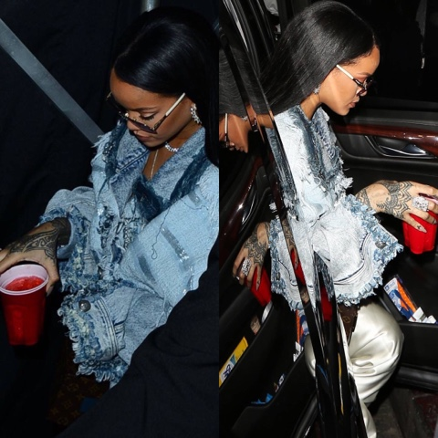 Rihanna attends Drake's concert in Resort 2017 Faith Connextion