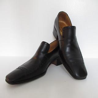 Yves Saint Laurent Cuban Heel Leather Loafers
