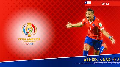 Wallpaper Copa América 2016 - Chile (Alexis Sánchez) - 1920x1080