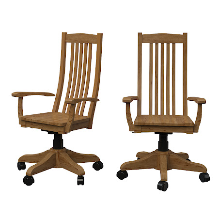 Raised Mission Office Chair in Classical Maple