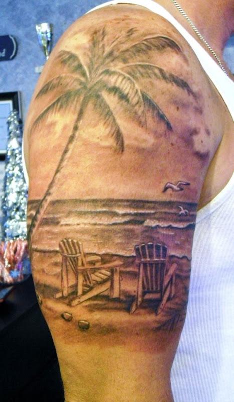 clssica_cena_de_praia_braço_de_tatuagem