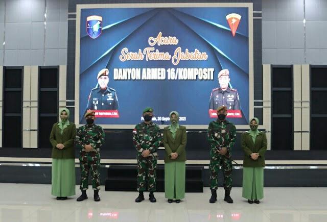 Kasdam XII/Tpr Pimpin Sertijab Komandan Batalyon Armed 16/Komposit
