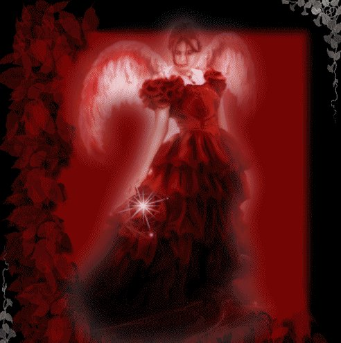Red Angel In Red Dress, Angels 1