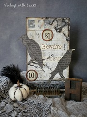 Halloween Collage - Ravens by Vintage with Laces