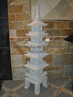5-ft, 5-Level Japanese Pagoda, Bianco Catalina