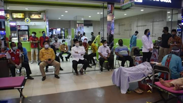 Wali Kota Mahyeldi Tutup Donor Darah di SJS Plaza