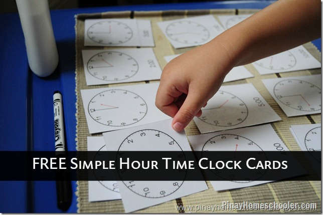 FREE Simple Hour Clock cards