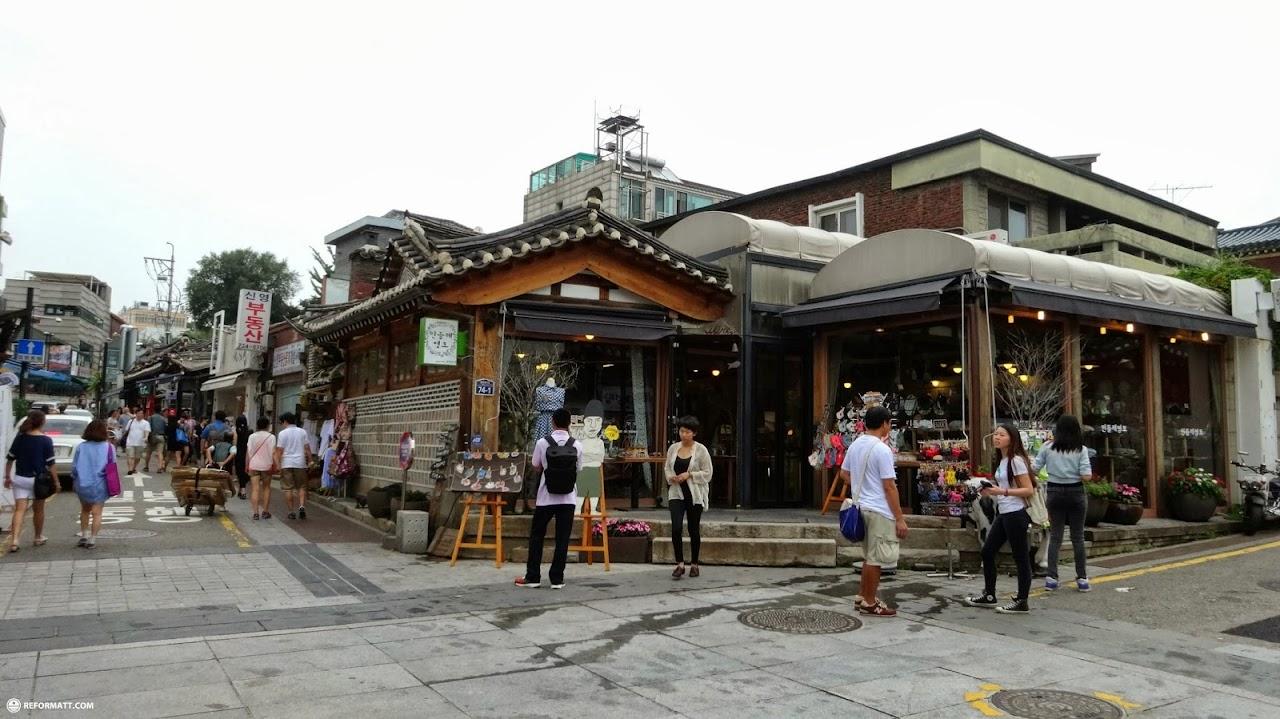 Traditional Korean Village At Bukchon Hanok In Seoul
