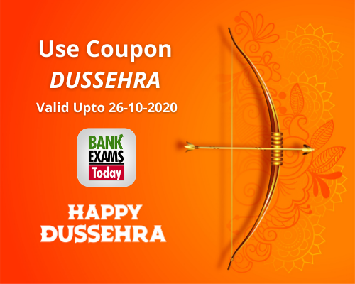 Happy Dussehra to all BankExamsToday readers