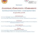 """Seminario """"Leadership, complessità e cambiamento"""""""