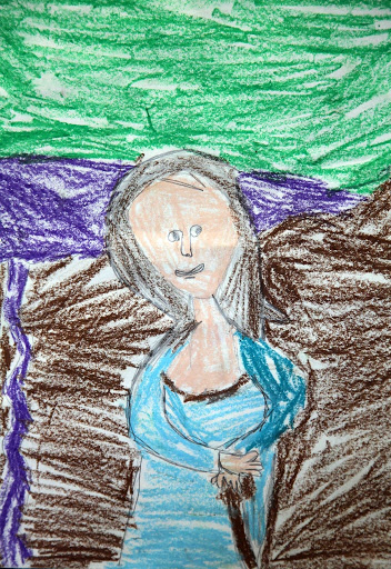 Mona Lisa - by a child who loves art. From Exposing children to the arts - An Open Letter to Fine Art Museum Directors